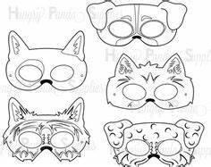 Minotaur Mask Template