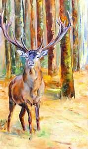 Gemälde Hirsch Modern : wildmalerei und jagdmalerei vom tiermaler wildbilder in l ~ Orissabook.com Haus und Dekorationen