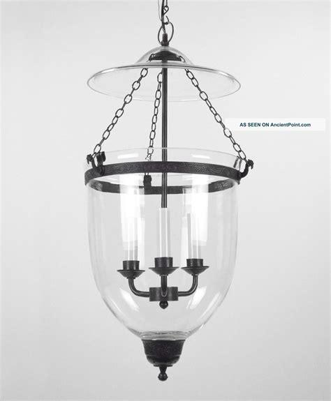 Large Lantern Style Chandelier - large bell jar light chandelier pendant lantern glass
