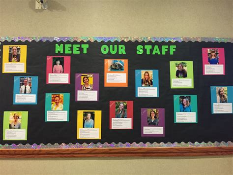 Tallmadge Meet Our Staff Bulletin Board
