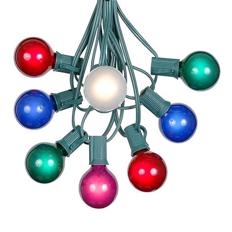 outdoor globe string lights 100 multi colored g40 globe outdoor string light set