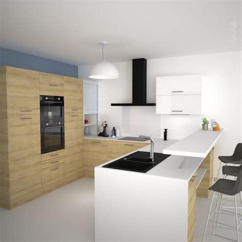 idee cuisine en u idée relooking cuisine cuisine en u avec meubles décor