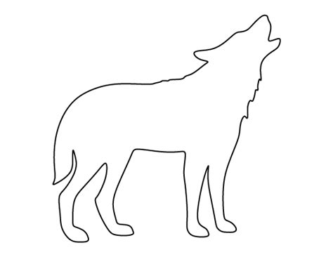 wolf template howling wolf pattern use the printable outline for crafts creating stencils scrapbooking and