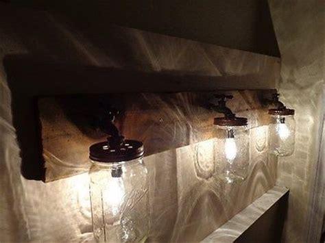 Rustic Barn Bathroom Lights by 1000 Images About Lighting On Jars Primitive