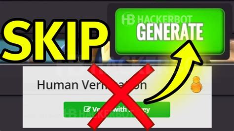 skip bypass human verification survey