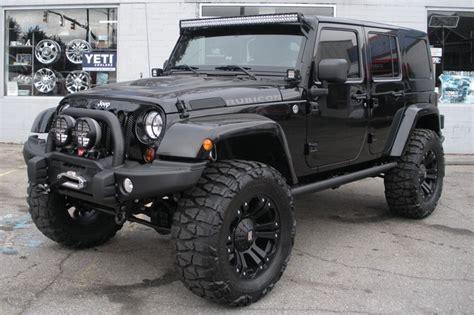 2013 Custom Black Jeep Wrangler Unlimited Rubicon For Sale