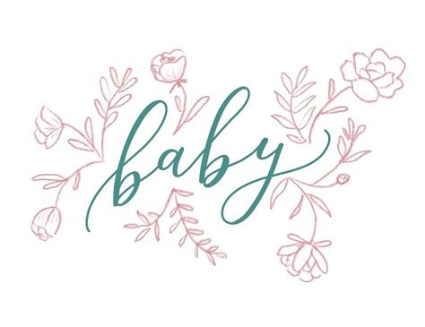 happy tines floral illustration baby card www