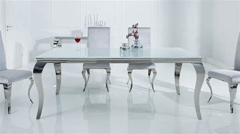 table a manger baroque table 224 d 238 ner baroque design blanche rectangulaire zita gdegdesign