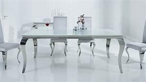Table Blanche Salle A Manger : table d ner baroque design blanche rectangulaire zita ~ Teatrodelosmanantiales.com Idées de Décoration