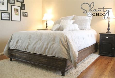 plans  wooden queen size bed   build  amazing