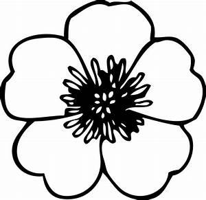 Clip Art Flower Black And White