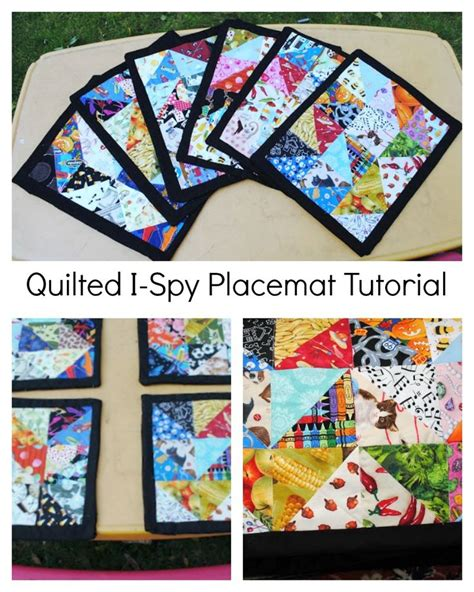 quilted placemats patterns fabric scrap placemats i place mats and the kid