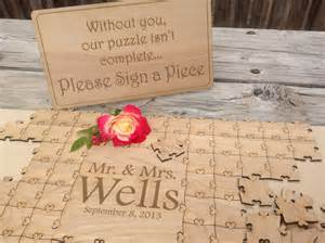 wedding guest book ideas items similar to 75 pieces wedding puzzle for wedding guest book custom puzzle w