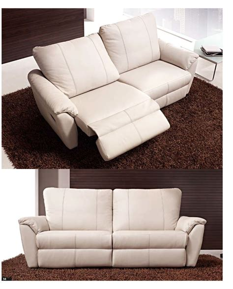 Modern Reclining Loveseat Style Dual Sofa And Recliner