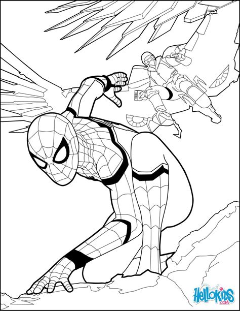 Spiderman Infinity War Free Coloring Pages