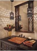 Bathroom Light Design Decor Powder Room Decorating In Mediterranean Style Using Light Fixture