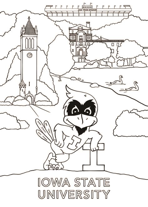 Iowa State Seal Coloring Page Iowa State Seal Vector