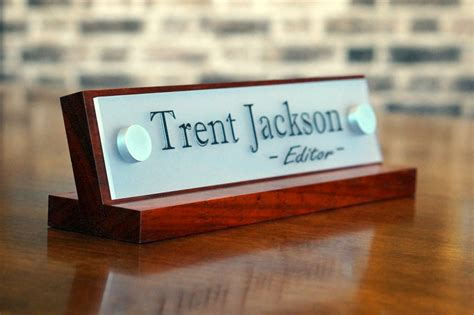 desk name plate designs office desk name plates high quality wood base