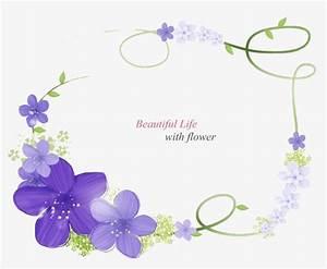 Purple Flower Border, Purple, Flower Border, Design PNG ...