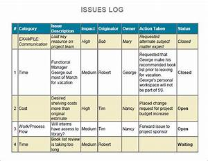 project management issues log template hemerweotk With project management issues log template