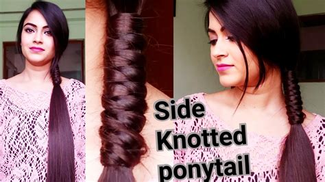 indian hairstyles  medium  long hairside knotted