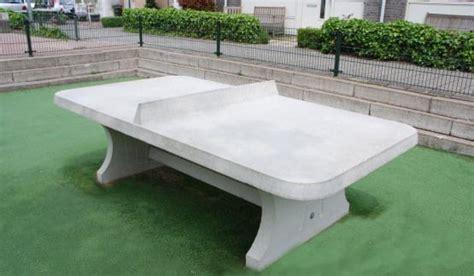 Table Ping Pong Exterieur Table Ping Pong Angles Arrondis Exterieur Beton Partenaire Cing