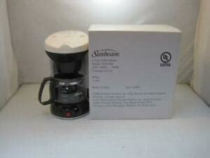4.5 out of 5 stars 26,574. 13832 Sunbeam Coffee Maker (4 Cup) White NEW | eBay