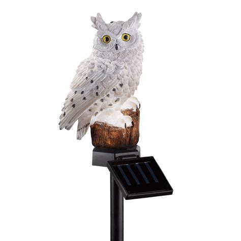 owl for garden collections etc solar owl garden stake ebay