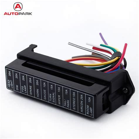 aliexpress com buy kkmoon 12 way dc 12v volt fuse box 24v 32v circuit car trailer auto blade