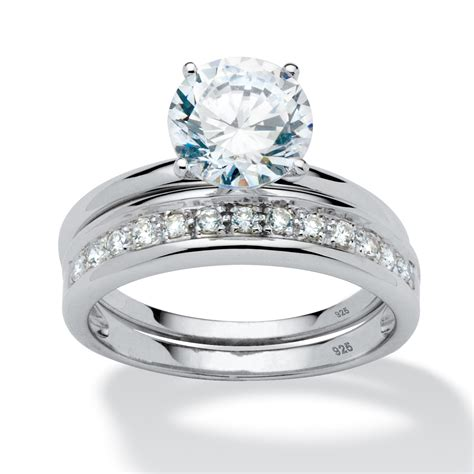 2 20 tcw cubic zirconia wedding ring in platinum over sterling silver at palmbeach jewelry