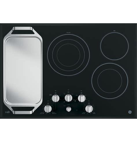ge cafe series  built  knob control electric cooktop cpsjss  appliances