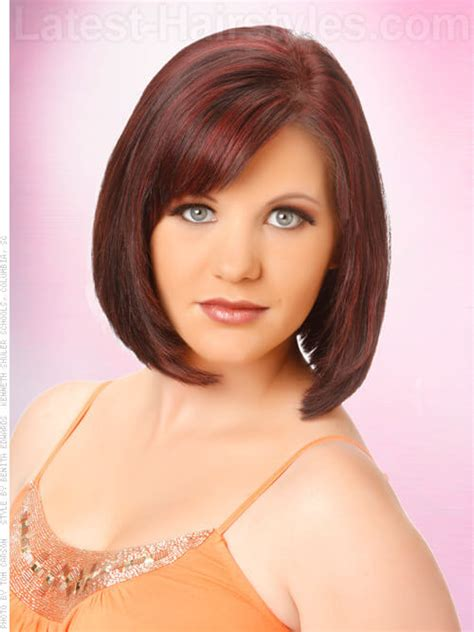 Bob Hairstyle With Side Fringe bob haircuts with fringe for hairstylo