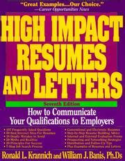 high impact resumes and letters 1998 edition open library
