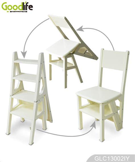 high gloss fonction bois massif chaise escabeau