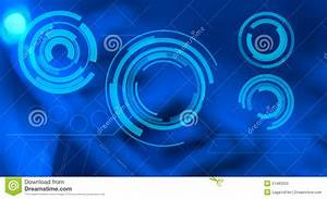 Blue Abstract Background And Futuristic HUD Touch Screen ...