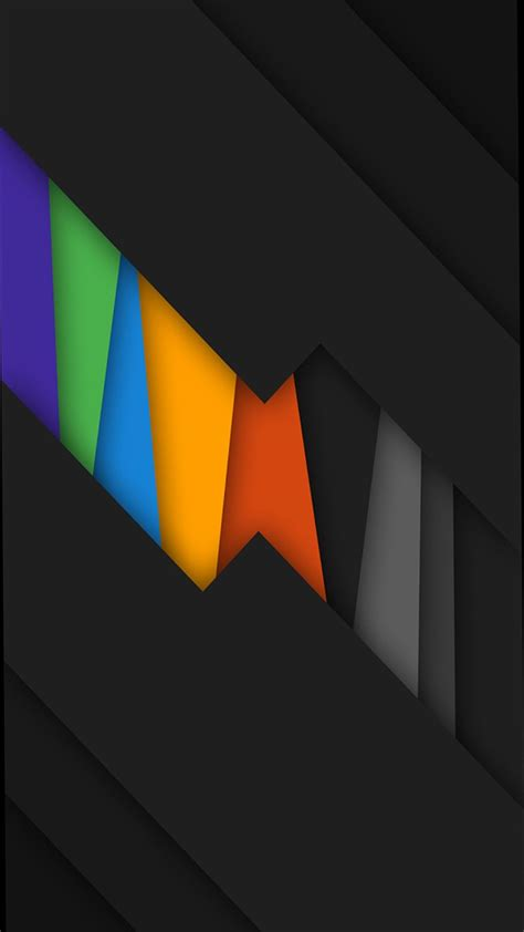 Hd Abstract Wallpaper Android by Black Rainbow Colors Abstract Wallpapers Cellphone