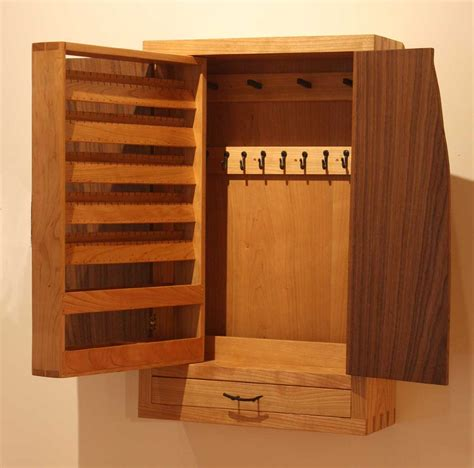 wall hung jewelry cabinet  necklace  earring storage