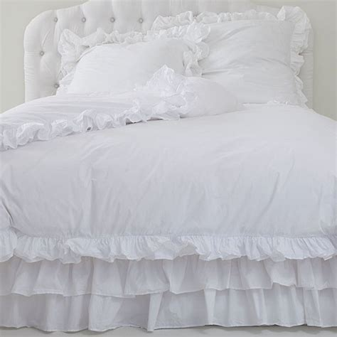 shabby chic white ruffle bedding 41 best images about white ruffle duvet cover on pinterest shabby chic beds teen vogue