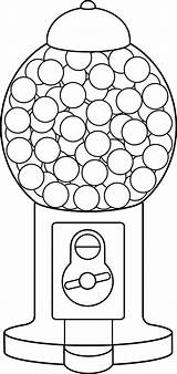 Gumball Coloring Machine Sweetclipart sketch template