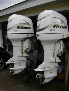 Sold Pair 2001 Evinrude Ficht Motors For Sale