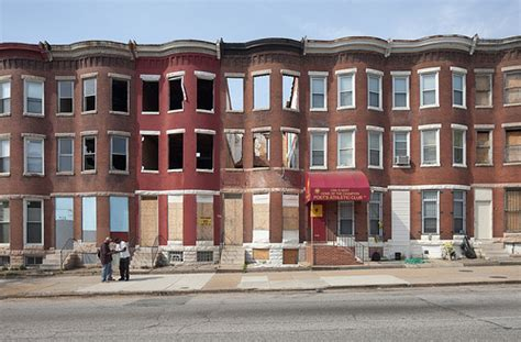The Row Houses Of Baltimore, Maryland