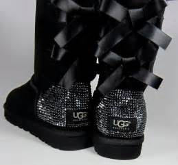 ugg bailey bow bling sale i 39 d like these in black size 8 with quot medium quot size crystals swarovski embellished