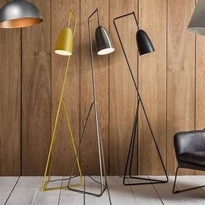 Tate adjustable head floor lamp yellow modern reading lights for Macey floor lamp yellow