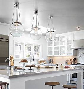 Glass pendant lights over kitchen island : Pendant lights for a kitchen island thayer reed