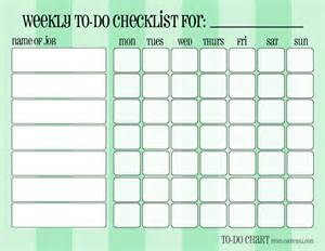 Blank Weekly Chore Chart