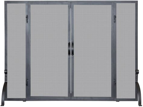 Uniflame S-1046 Single Panel Black Wrought Iron Screen