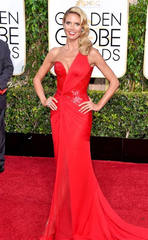 Heidi Klum From Golden Globes Red Carpet Arrivals