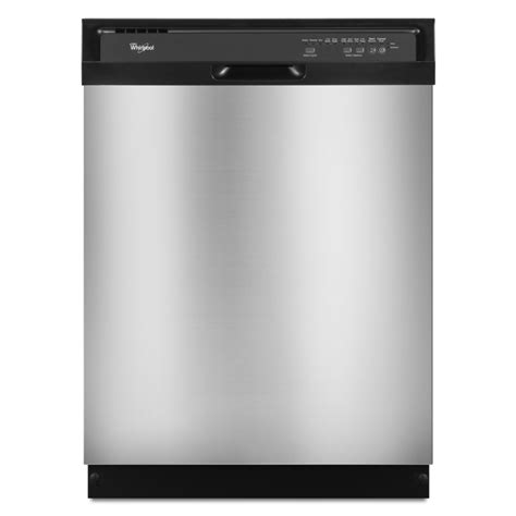 lowes dishwashers shop whirlpool 55 decibel built in dishwasher stainless