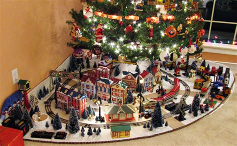 electric train under christmas tree david smith 39 s o gauge holiday display classic toy trains