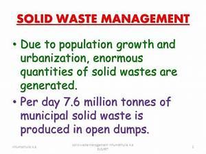solid waste management nihumathulla ka authorstream With waste management powerpoint template